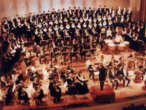 Исполнение «Реквиема» Дж. Верди. Дирижёр — Валерий Платонов, 2000 год